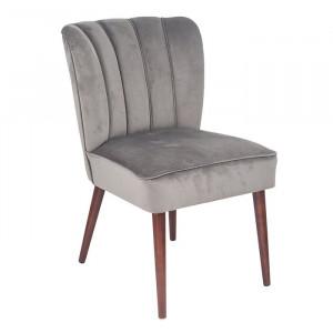 Scaun de masă tapițat Dowdle, Gri, 85 x 51 x 64 cm