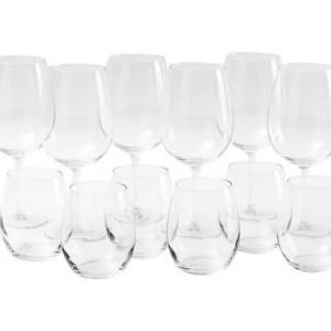 Set de 12 pahare Excelsa Enoteque din sticlă