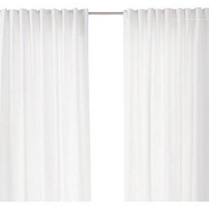 Set de 2 draperii albe Sawashi, 138x250 cm