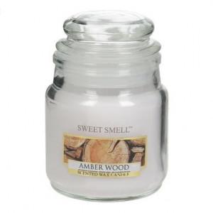 Set de 2 lumanari parfumate amber wood