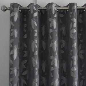 Set de 2 perdele Bryana, gri, 168 x 183 cm
