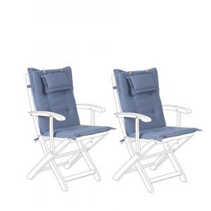 Set de 2 perne pentru scaun si spate Maui, albastru, 42 x 40 x 55 cm
