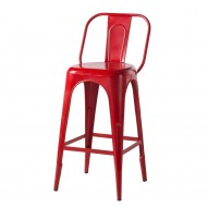 Set de 2 scaune Feruminia, Metal, Rosu