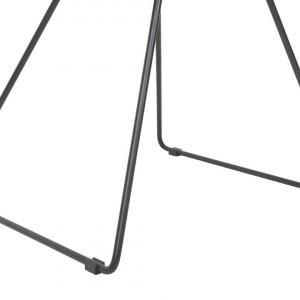 Set de 2 scaune HARLAN, negre, 57 x 54 x 77 cm