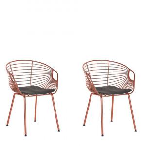 Set de 2 scaune Hoback, metal, cupru, 60 x 56 x 79 cm