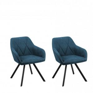 Set de 2 scaune Monee, albastru, 78 x 50 x 48cm