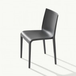 Set de 2 scaune Nassau, polipropilenă, gri