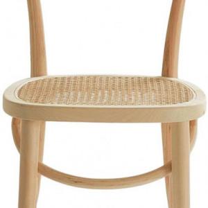 Set de 2 scaune Rippats, lemn/ ratan, 39 x 89 x 53 cm