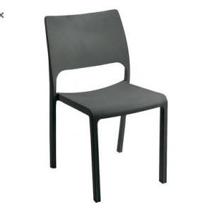 Set de 2 scaune stivuibile antracit Brittany