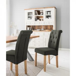Set de 2 scaune tapitate Jeanne antracit