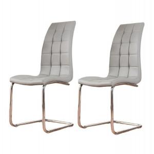 Set de 2 scaune Trapp tapitate, piele sintetica