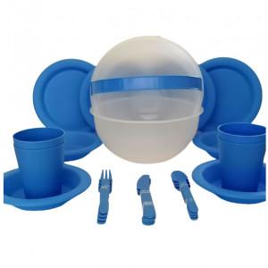Set de 26 piese pentru picnic Tesco, albastru