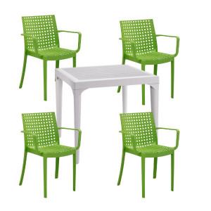 Set de 4 scaune Sophie si masa Malmo din polipropilena