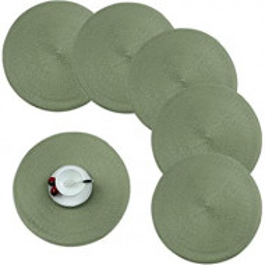 Set de 6 naproane Round verde