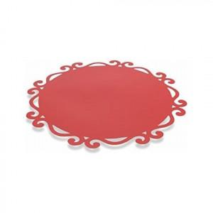Set de 6 naproane  Villa D'este Dorian rosii