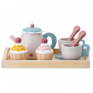 Set de ceai pentru copii, 13 piese, multicolor, 21 x 10 x 16 cm