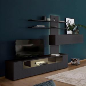 Set de mobilier pentru living Amara Carré by Villeroy & Boch, 3 piese, antracit
