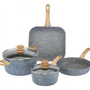 Set de vase de gatit Pierre Gourmet cu maner de lemn, 6 piese