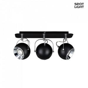 Spotlight Ball I, metal, negru, 42 x 20 x 11 cm, 5w