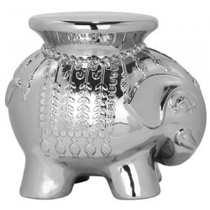 Suport decorativ Scarlettem, ceramica, argintiu, 42,67 x 36 x 50 cm