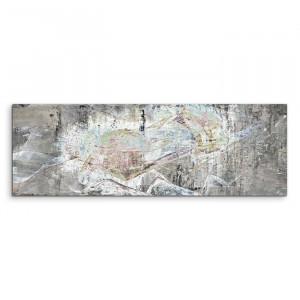 "Tablou ""Abstrakt 1353"", gri, 50 x 150 cm"