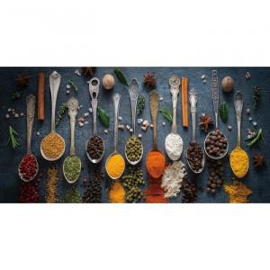 "Tablou ""Antique Spoons with Spices V"", multicolor, 40 x 80 x 0,4 cm"