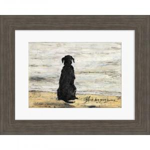 Tablou 'Black Dog Going Home', 40 x 50 cm