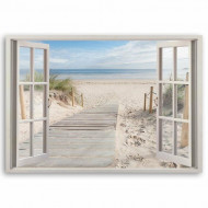 "Tablou Canvas ""Window to the Beach"", 60 x 90cm"