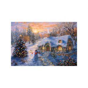 Tablou cu peisaj de Craciun, 30,48 x 45,72 x 1,9 cm