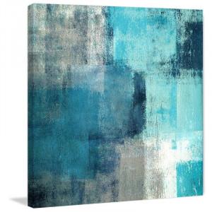 Tablou Meditation, gri/albastru, 122 x 122 cm