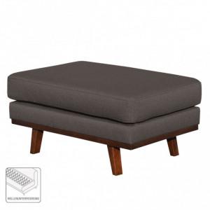 Taburet Billund textile/lemn masiv, gri inchis, 43 x 89 x 60 cm