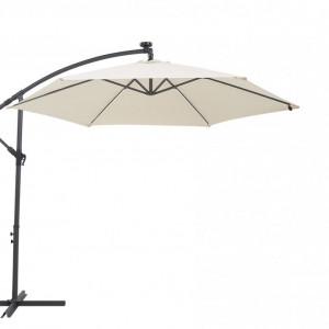 Umbrelă de terasă cu lumini LED CORVAL, Bej, 270 x 285 x 285 cm
