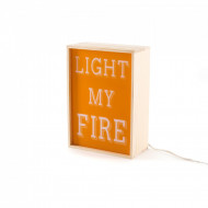 Veioză Lighting Box, LIGHT MY FIRE | I HAVE A DREAM | HAPPYNEST