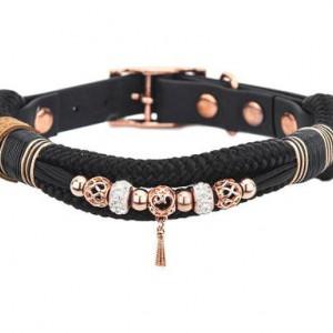 Zgardă pentru căței Tiffanys cu perle, 20-25 cm