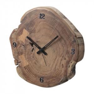 Obiect decor tip ceas de perete Dysart din lemn masiv de salcam