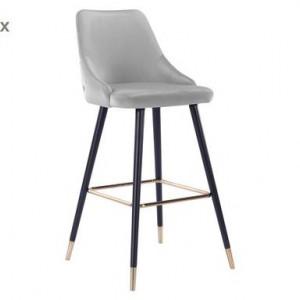Set de 2 scaune de bar Lora gri