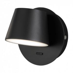 Aplica de perete Mug fier, negru, diametru 37 cm