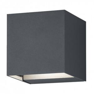 Aplica LED Adaja aluminiu, gri inchis, 2 becuri, 230 V, 3 W