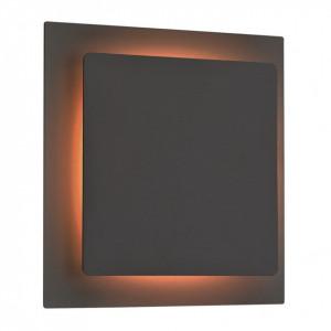 Aplica LED Fey I fier/sticla acrilica, 1 bec, negru, 230 V, 3000 K