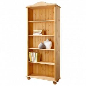 Biblioteca Mette din lemn masiv de pin, maro, 77 x 30,5 x 181 cm