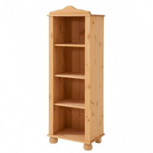 Biblioteca Mette, inaltime 130 cm, latime 45 cm, lemn masiv de pin