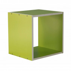Biblioteca Tribble din lemn, verde, 35 x 35 cm