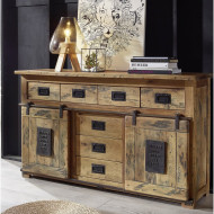 Bufet Erickson, lemn masiv, maro, 90 x 150 x 45 cm