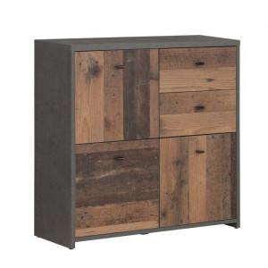 Bufet Legrand, maro/negru, 76 x 77 x 30 cm