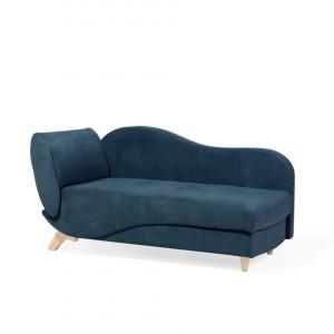 Canapea divan Meri, tesatura catifea, albastra