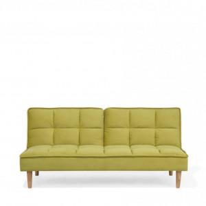Canapea extensibilă SILJAN, lemn/tesatura, verde, 80 x 177 x 80 cm