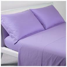 Cearsaf drept de pat si 2 fete de perna violet, matrimonial