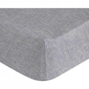 Cearsaf pat cu elastic Linen gri, 175x200 cm
