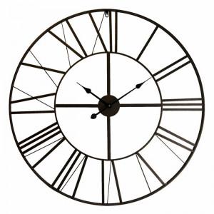 Ceas de perete Gustave XXL, negru, 50 x 50 cm