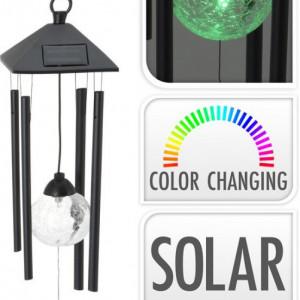 Clopoțel de vânt cu lumină solară Karll, LED, multicolora